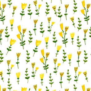 Yellow meadow design
