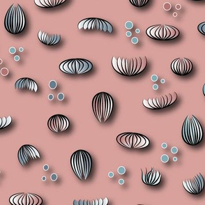 Paper flowers and dots - blush pink - 2050184
