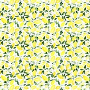 So luscious lemons • tiny scale • watercolor citrus fruits