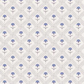 Blue Cornflower Floral Print