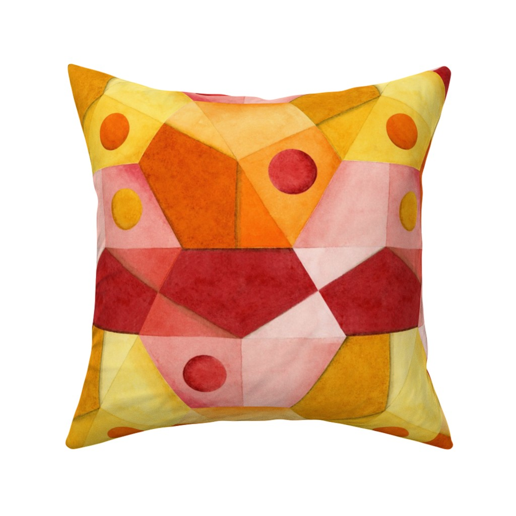 Catalan Throw Pillow featuring Abstract Minimalism Hexagons by patriciasheadesigns