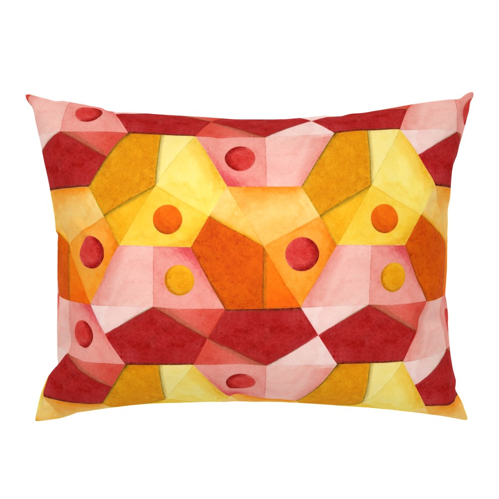 Campine Pillow Sham featuring Abstract Minimalism Hexagons by patriciasheadesigns