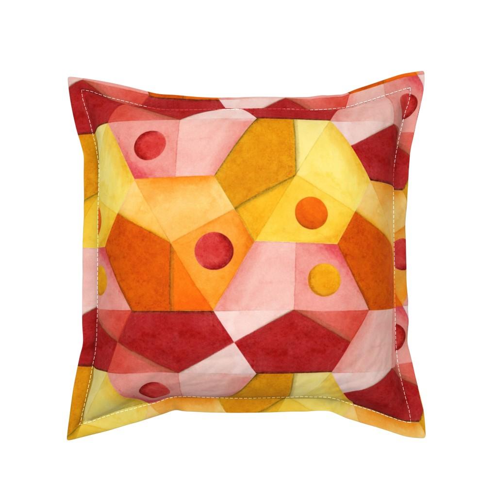 Serama Throw Pillow featuring Abstract Minimalism Hexagons by patriciasheadesigns