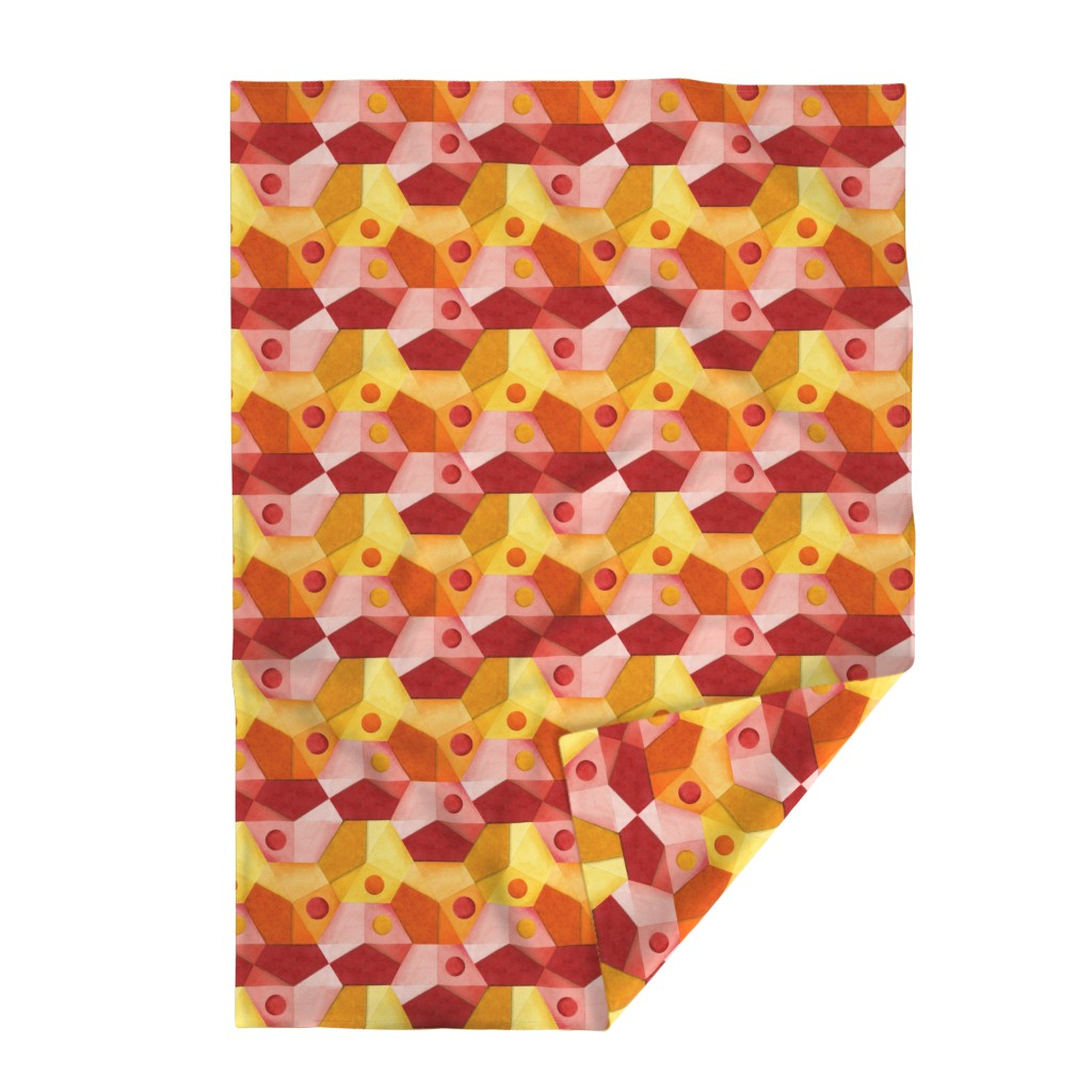 Lakenvelder Throw Blanket featuring Abstract Minimalism Hexagons by patriciasheadesigns