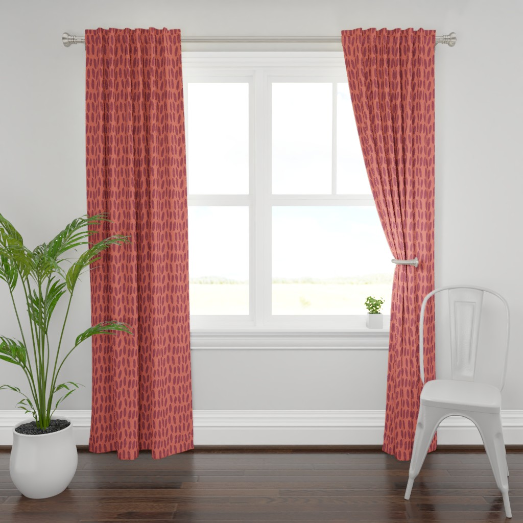 Plymouth Curtain Panel featuring pebbles autumn by alexmichiardi