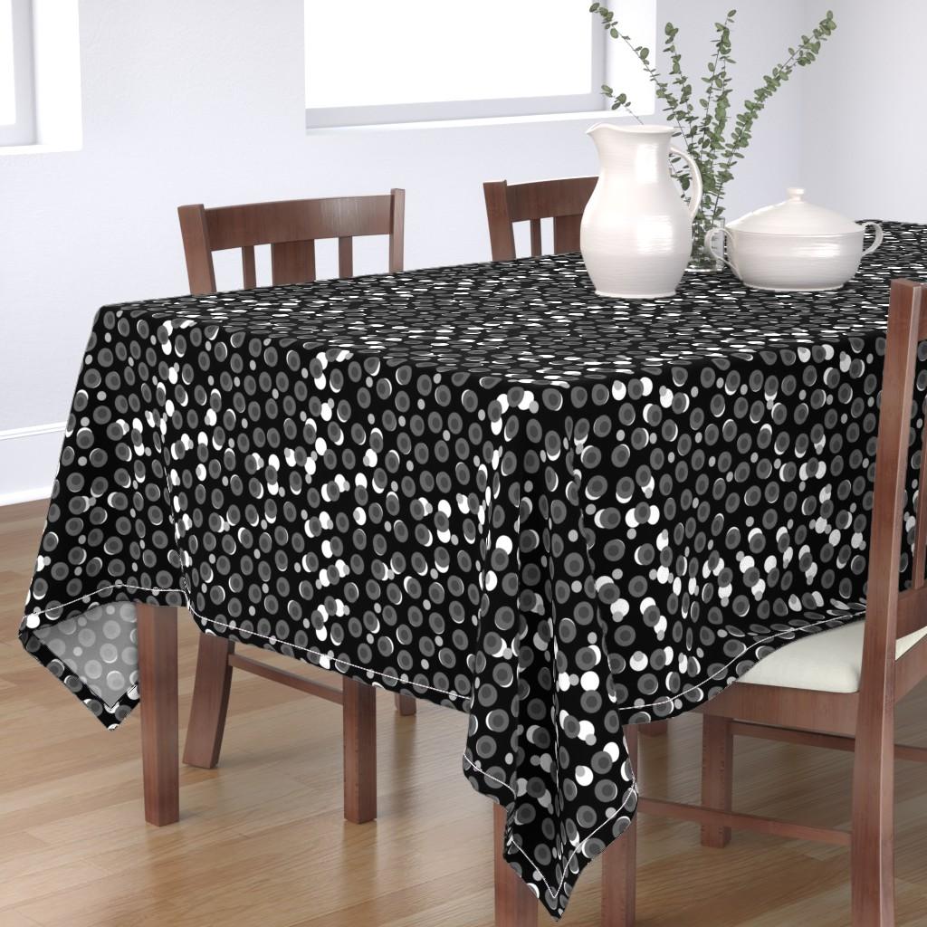 Bantam Rectangular Tablecloth featuring Paris Spots #13 (black, white, greyscale) by bravenewart