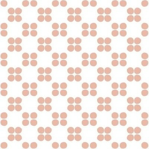 tomato polka-white/peach