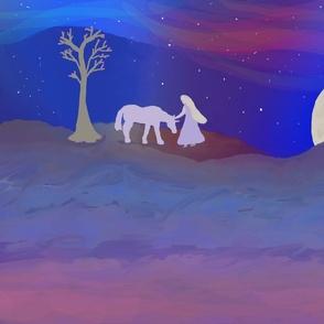 unicorn starry night fatq
