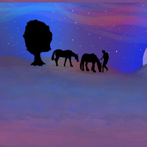 Two horse night