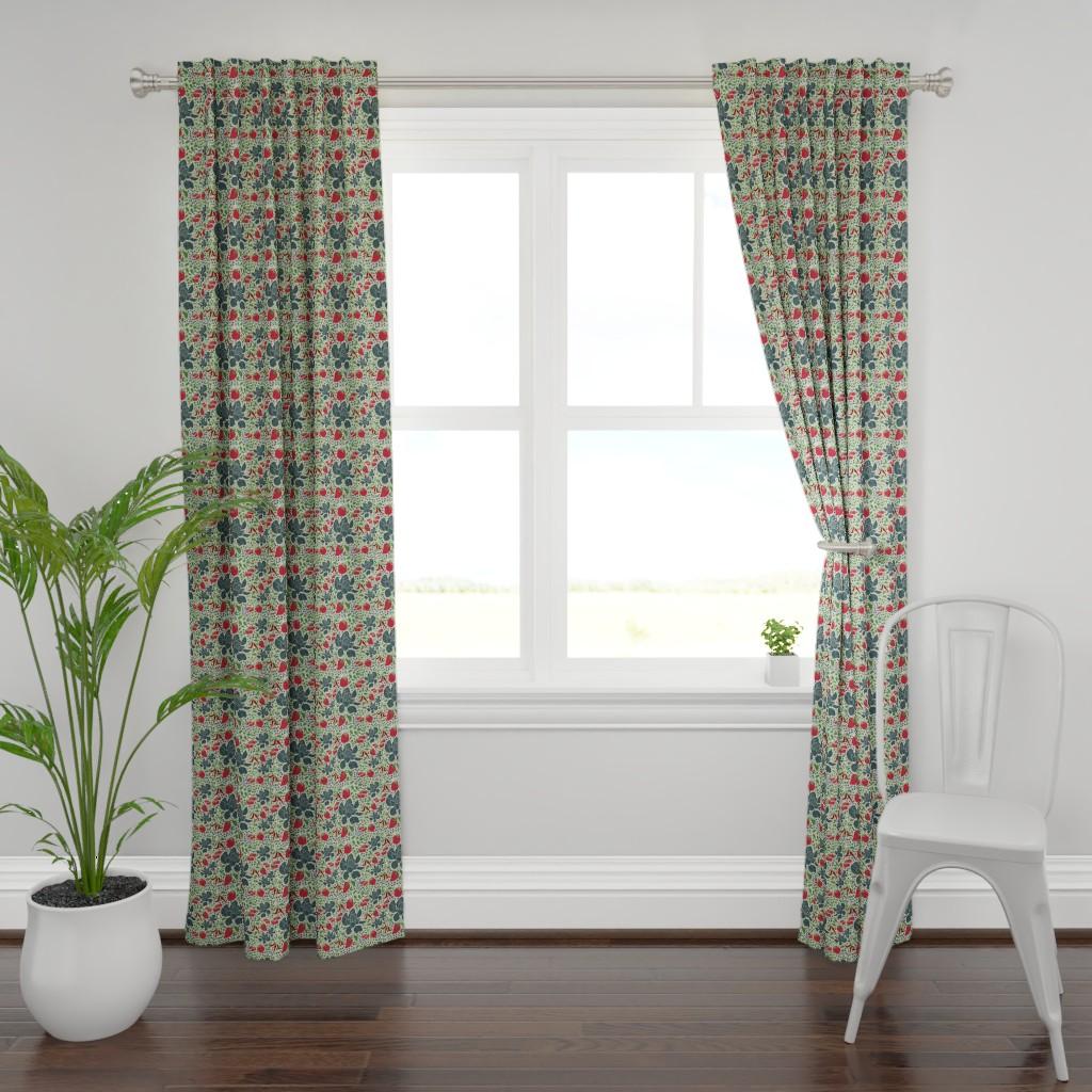 Plymouth Curtain Panel featuring Vegetable garden  by denesannadesign