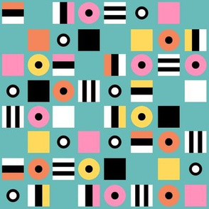 Liquorice Allsorts - 1950s colors