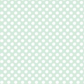 Polka dots - bright mint