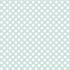 Polka dots - pale grey blue