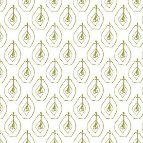 pears - olive green