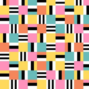 Packed square Liquorice Allsorts - 1950s colors
