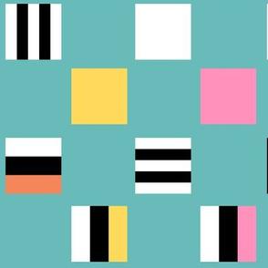 Large square Liquorice Allsorts - 1950s colors