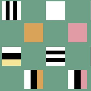 Large square Liquorice Allsorts - spring colors