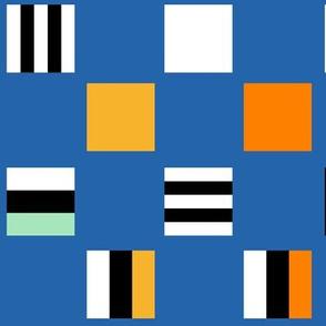 Large square Liquorice Allsorts - circus colors