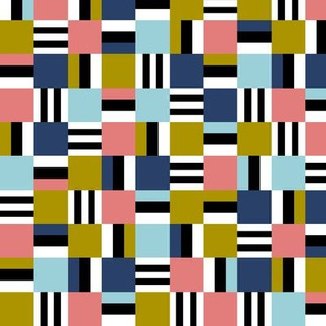 packed square Liquorice Allsorts - trendy colors