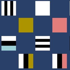 Large square Liquorice Allsorts - trendy colors