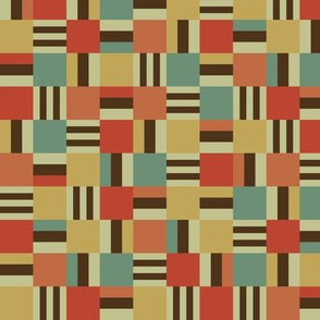 Packed square Liquorice Allsorts - moroccan colors