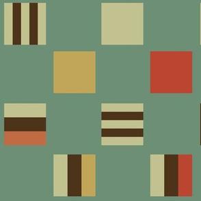 Large square Liquorice Allsorts - moroccan colors