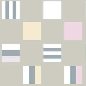 Large square Liquorice Allsorts - pastel colors