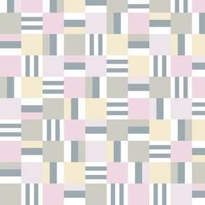 packed square Liquorice Allsorts - pastel colors