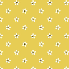 small floral yellow