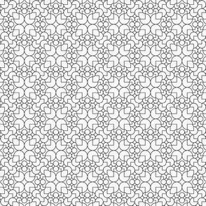 geometric outline black