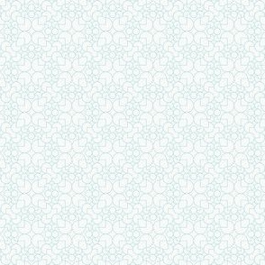 geometric outline blue