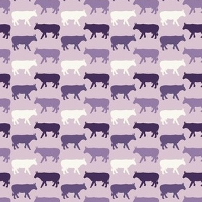 Cow Sides - Mini- Purples - Light