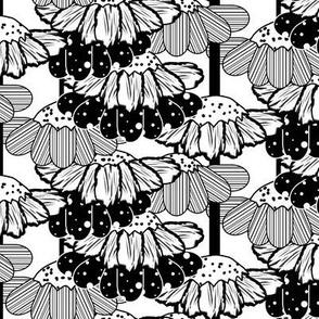 Black Flower Rain Chain on White