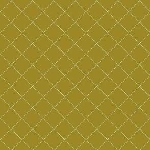 diamond stitch - honey mustard