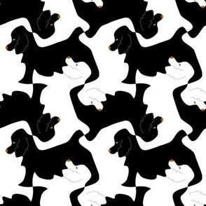 Black and White Cocker Spaniel Tesselation