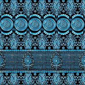 Maximalist Jeweled Stripe in Electric Blue & Black