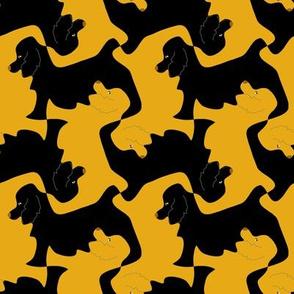 Black and Gold Cocker Spaniel Tesselation