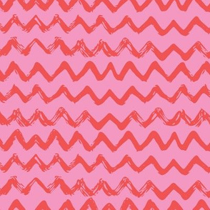 Pink red doodle chevron