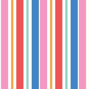 Colorful Saturated vertical stripes