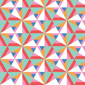 Asymmetric color blocking geometrical