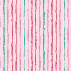 Colorful vertical doodle stripes
