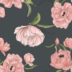 Peony dark flower
