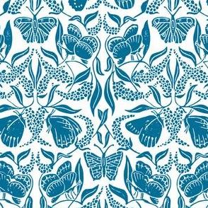blue linoprint butterflies