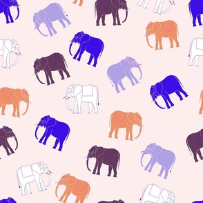 lilac holiday elephants