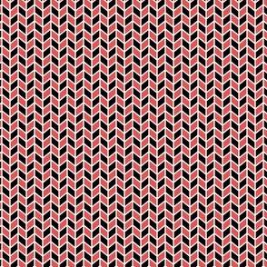 Geometric Pattern: Chevron: Black/Red