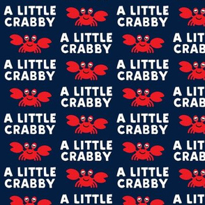 a little crabby - navy - nautical summer - LAD19