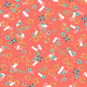 Candy Camouflage in Coral