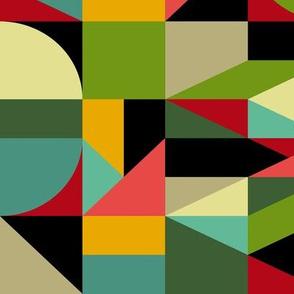 Bauhaus style inspired mosaic