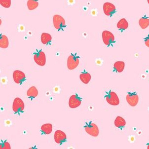 Summer strawberry field ditsy