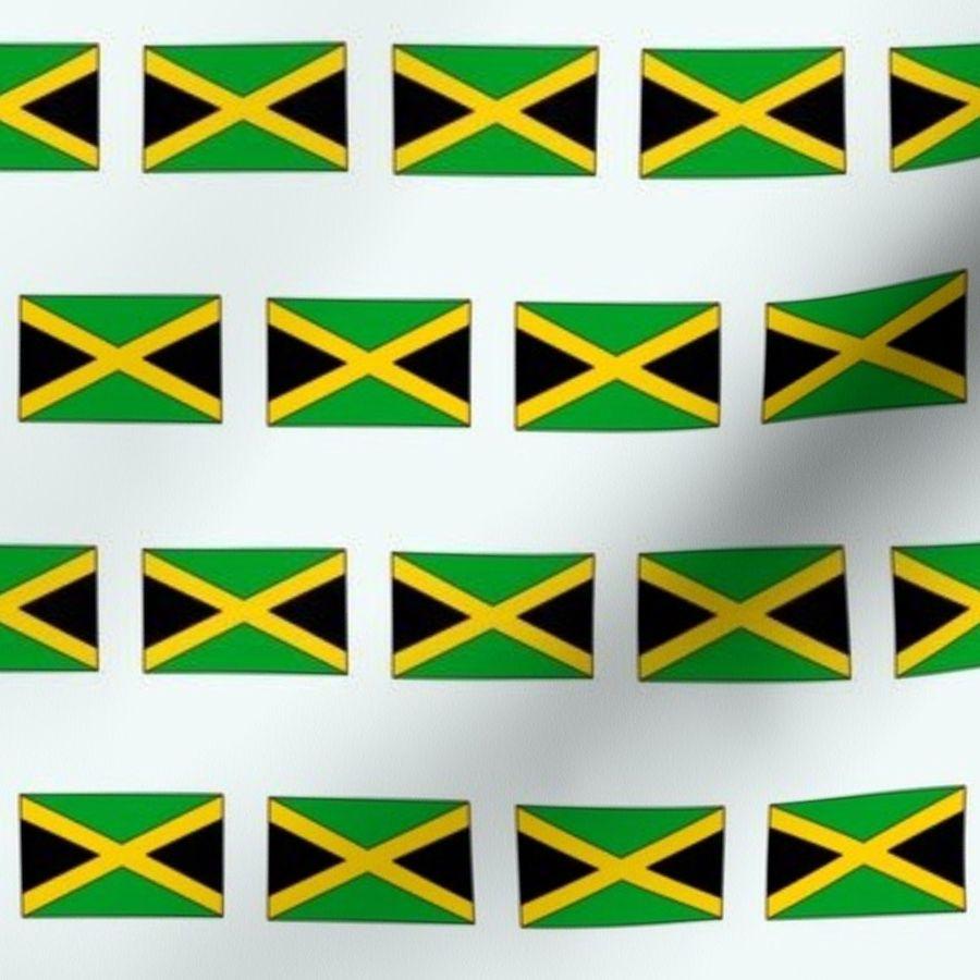 Fabric by the Yard Jamaica flag, flag, Jamaican